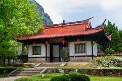 Entrada china del templo Foto de archivo libre de regalías