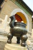 Entrada china del templo Foto de archivo