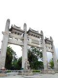 Entrada china del templo de Acient Imágenes de archivo libres de regalías