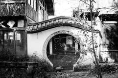 Entrada circular de un edificio viejo Foto de archivo