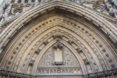 Entrada da arcada de Bristol Cathedral Fotos de Stock