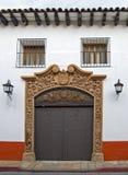 Entrada da casa de San Cristobal Foto de Stock Royalty Free