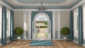 Entrada da casa de uma casa de campo luxuosa ilustração do vetor