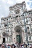 A entrada da catedral de Santa Maria del Fiore, Florença Fotografia de Stock Royalty Free