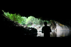 Entrada da caverna de Konglor Fotografia de Stock