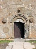 Entrada da igreja de trindade de Gergeti Fotografia de Stock Royalty Free