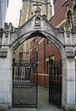 Entrada da igreja do templo, Bristol Foto de Stock Royalty Free