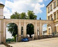 Entrada da jarda à catedral de Freising, Baviera, Alemanha imagens de stock