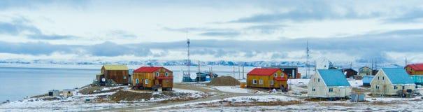 Entrada da lagoa, ilha de Bafim, Nunavut, Canadá imagem de stock royalty free