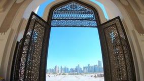 Entrada da mesquita de Doha filme