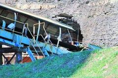 Entrada da mina de carvão fotos de stock