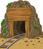 Entrada da mina dos desenhos animados ilustração stock