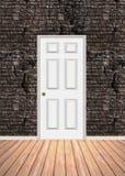 Entrada da parede de tijolo ilustração do vetor