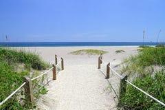 Entrada da praia Foto de Stock Royalty Free