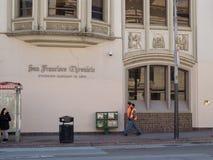 Entrada da rua de San Francisco Chronicle imagem de stock