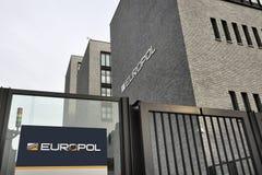 Entrada da sede de Europol em Haia, Den Haag. Fotos de Stock Royalty Free