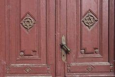 Entrada da sinagoga velha Imagem de Stock