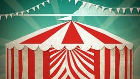 Entrada da tenda do circus ilustração do vetor