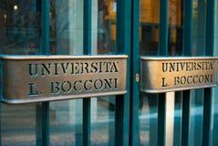 Entrada da universidade de Bocconi de Milão fotografia de stock royalty free