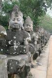 Entrada de Angkor Thom Fotografia de Stock Royalty Free