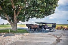 Entrada de automóveis de Amish fotografia de stock royalty free