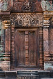 Entrada de Banteay Srei imagem de stock royalty free