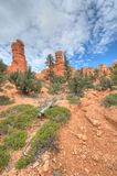 Entrada de Bryce Canyon Fotos de archivo libres de regalías