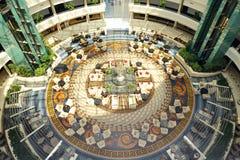 A entrada de Calista Luxury Resort Foto de Stock