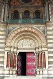 Entrada de Cathédrale de la Major, Marsella, Francia Foto de archivo libre de regalías