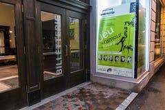 Entrada de Denise Pelletier Theatre Imagem de Stock