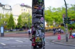 Entrada de Herbertstrasse en el Reeperbahn en la ciudad de Hamburgo Alemania Europa el distrito del entretenimiento en el distrit Imagen de archivo libre de regalías
