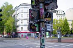 Entrada de Herbertstrasse en el Reeperbahn en la ciudad de Hamburgo Alemania Europa el distrito del entretenimiento en el distrit Fotos de archivo libres de regalías