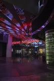 Entrada de Hollywood del planeta de Las Vegas por noche foto de archivo libre de regalías