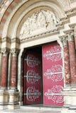 Entrada de invitación de la catedral de Marsella, Francia Imagenes de archivo
