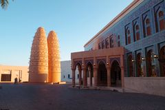 Entrada de Katara Masjid um do Masjids o mais bonito em Catar imagem de stock royalty free