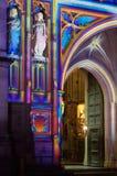 Entrada de la abadía de Westminster encendida para arriba Foto de archivo libre de regalías