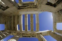 Entrada de la acrópolis Fotografía de archivo libre de regalías