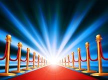 Entrada de la alfombra roja Imagen de archivo libre de regalías