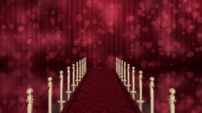 Entrada de la alfombra roja con llave de la croma stock de ilustración