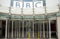 Entrada de la BBC, Londres central fotos de archivo