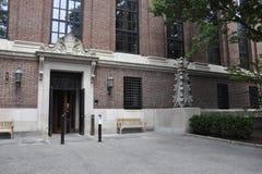 Entrada de la biblioteca de Widener del campus de Harvard en el estado de Cambridge Massachusettes de los E.E.U.U. Fotografía de archivo libre de regalías