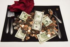 Entrada de la cañería del dinero imagen de archivo libre de regalías