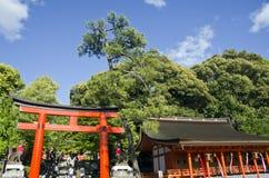 Entrada de la capilla de Fushimi Inari Imagen de archivo libre de regalías