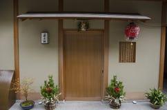 Entrada de la casa del geisha Fotos de archivo libres de regalías