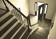 Entrada de la casa teñida Fotos de archivo