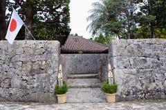 Entrada de la casa tradicional en Okinawa Fotografía de archivo