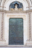 Entrada de la catedral de Orvieto Foto de archivo