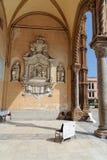 Entrada de la catedral de Palermo Imágenes de archivo libres de regalías