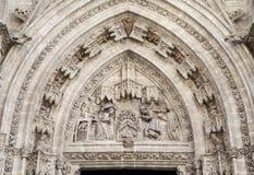 Entrada de la catedral de Sevilla, España Imagenes de archivo