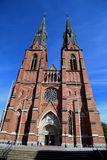 Entrada de la catedral de Uppsala Imagenes de archivo